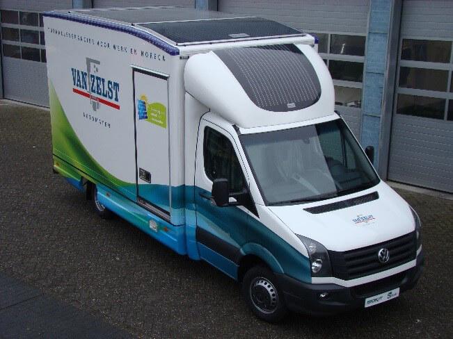 zonnepanelen vrachtauto